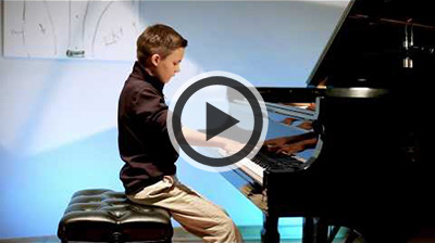 Piano Student Playing Rachmaninoff
